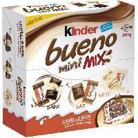 Confiserie De Chocolat - Barre Chocolatee KINDER BUENO Mini Mix chocolatées T45. au lait et noisettes - 245 g
