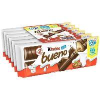 Confiserie De Chocolat - Barre Chocolatee KINDER BUENO Pack de Gaufrettes chocolatées fines - 258 g