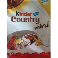Confiserie De Chocolat - Barre Chocolatee KINDER Gaufrettes chocolatées Country Mini T40. au lait et 5 céréales - 212 g