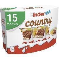 Confiserie De Chocolat - Barre Chocolatee KINDER Gaufrettes chocolatées Country T15 - 353 g