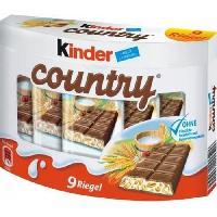 Confiserie De Chocolat - Barre Chocolatee KINDER Gaufrettes chocolatées Country T9 Largo - 211 g