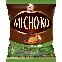 Confiserie De Chocolat - Barre Chocolatee LA PIE QUI CHANTE Bouchées chocolatées noir Mi-Cho-Ko. goût aux noisettes - 230 g