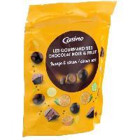 Confiserie De Chocolat - Barre Chocolatee LES GOURMANDISES Chocolat noir. gouts orange. citron et citron vert - 125 g