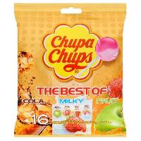 Confiserie De Sucre - Bonbon CHUPA CHUPS Sucettes Lollipops The Best Of. goûts cola. milky et fruit - 192 g