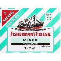 Confiserie FISHERMAN'S FRIEND Pastille sans sucres - 3x 25g - Menthe