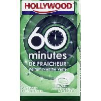 Confiserie HOLLYWOOD Chewing-gum Menthe verte 60 mintes de fraicheur - 3 x 10 dragées Sans sucre - Aucune