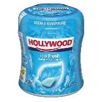 Confiserie Hollywood Icefresh Bottle chewing-gum menthe fraiche sans sucres 60 dragees Generique