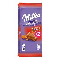 Confiserie MILKA Tablette de chocolat au daim - 2 x 100g - Aucune