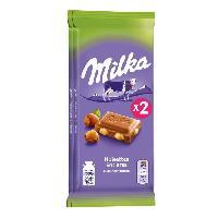 Confiserie Milka familial chocolat au lait Noisettes 2x100g - Aucune