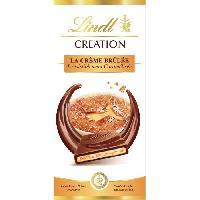 Confiserie Tablette de Chocolat Lindt Creation  La Creme Brulée  - 150G - Aucune