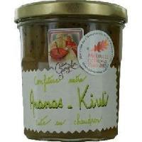 Confiture - Gelee - Marmelade Confiture Extra d'Ananas Kiwis 350g - Lucien Georgelin