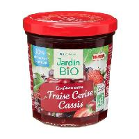 Confiture - Gelee - Marmelade JARDIN BIO Confiture extra fraise cerise et cassis bio - 320 g