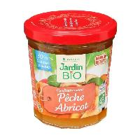Confiture - Gelee - Marmelade JARDIN BIO Confiture peche abricot bio - 320 g