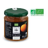 Confiture - Gelee - Marmelade Preparation a base de pulpe. de jus et d'ecorces d'oranges ameres bio - 330 g