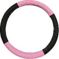 Confort Conducteur Et Passager IMDIFA Couvre-volant Pink - Noir et rose Aucune