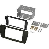 Confort Conducteur Et Passager Kit Facade Autoradio KF255E pour Seat Ibiza - noir azabache AL6 ADNAuto