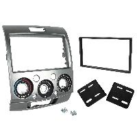 Confort Conducteur Et Passager Kit Facade Autoradio KF404B pour Ford Ranger Mazda BT-50 - argent 2Din ADNAuto