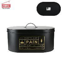 Conservation Des Aliments LA BOITE A Boite a pain BT6671 Noir Mat Metal