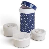 Conservation Repas Boite thermique en acier inoxydable avec 3 recipients Internes 1200 ml