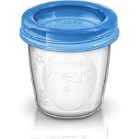 Conservation Repas PHILIPS AVENT SCF619/05 5 pots de conservation pour lait maternel 180 ml