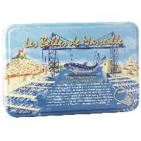 Conserve De Legume BELLES DE MARSEILLE Coffret Metal 4 Boites Sardines 16