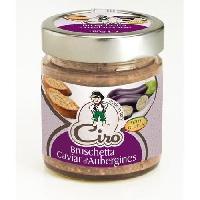 Conserve De Legume Bruschetta caviar d'aubergines sans gluten - 180 g