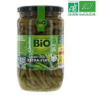 Conserve De Legume Haricots verts coupes bio - 72 cl