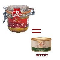 Conserve De Viande 1 Foie Gras Entier 180g Acheté = 1 Rillons OFFERT - Panache Des Landes