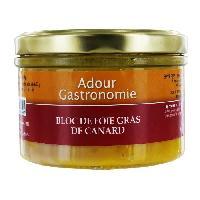 Conserve De Viande Bloc de Foie Gras de Canard - Adour Gastronomie