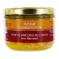 Conserve De Viande Bloc de Foie Gras de Canard 30 Morceaux Adour Gastronomie