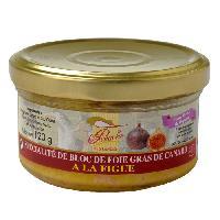 Conserve De Viande Bloc de Foie Gras de Canard a la Figue 120g x1 - Generique