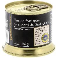 Conserve De Viande CASINO DELICES Bloc de foie gras de canard 30% - 150g