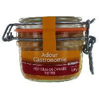 Conserve De Viande Foie Gras de Canard Entier Bocal 130g Adour Gastronomie