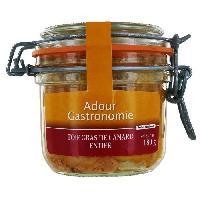 Conserve De Viande Foie Gras de Canard Entier Bocal 180g - Adour Gastronomie