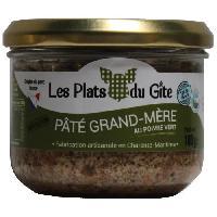 Conserve De Viande LES PLATS DU GITE Pâté Grand-Mere au Poivre Vert - 180 g - Generique