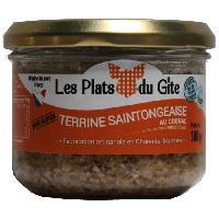 Conserve De Viande LES PLATS DU GITE Terrine Saintongeaise au Cognac - 180 g