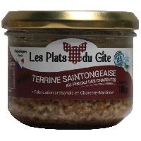 Conserve De Viande LES PLATS DU GITE Terrine d'Escargots Saintongeaise au Pineau des Charentes - 180 g