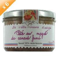 Conserve De Viande Lot de 6 Pâtés au Magret de Canard Fumé 220g LUCIEN GEORGELIN