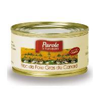 Conserve De Viande PAROLE D'ELEVEURS Bloc de Foie Gras de Canard 150g