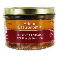 Conserve De Viande Terrine Landaise (20% Bloc) - Adour Gastronomie