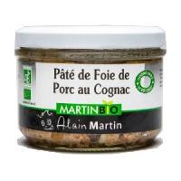 Conserve De Viande Terrine de foie de porc Cognac BIO 180G - Alain Martin