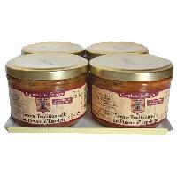 Conserve De Viande Terrines Traditionnelles au Piment d'Espelette 4x180g