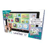 Console - Console Educative LEXIBOOK - LexiTab 10 - Tablette enfant avec applications educatives. jeux et controles parentaux - Pochette de protection incluse
