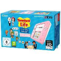 Console 2ds 2DS Rose / Blanc avec Jeu Tomodachi Life Préinstallé - Nintendo