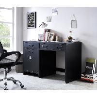 Console LIVERPOOL Bureau metal noir - L 115 x P 55 x H 75 cm - Aucune
