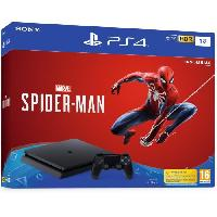 Console Playstation 4 PS4 1 To Noire + Marvel's Spider-Man Edition Standard - Sony Computer Entertainment