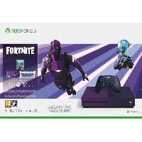 Console Xbox One Xbox One S 1 To Fortnite + 1 mois d'essai au Xbox Live Gold et 1 mois d'essai aux services XBOX Gamepass - Microsoft