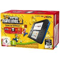 Consoles 2DS Bleue + New Super Mario Bros 2 - Nintendo