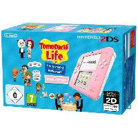 Consoles 2DS Rose - Blanc avec Jeu Tomodachi Life Preinstalle - Nintendo