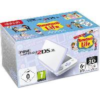 Consoles Console New Nintendo 2DS XL Blanc-Lavande et Tomodachi Life Preinstalle